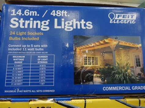 costco string lights feit electric 48 ft string lights