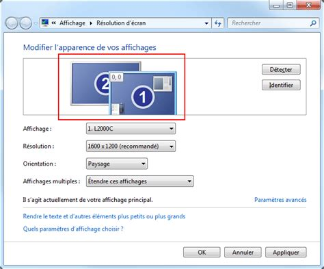 affichage bureau windows 7 affichage multi 233 crans windows 7 aidewindows