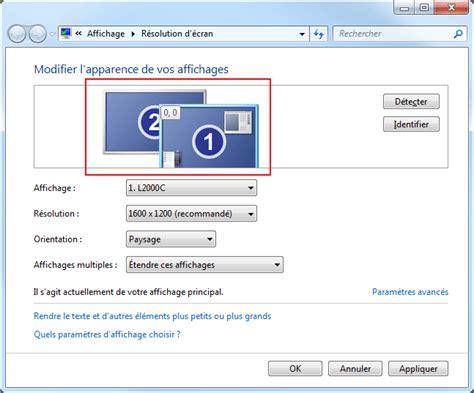 affichage bureau windows 7 affichage multi écrans windows 7 aidewindows