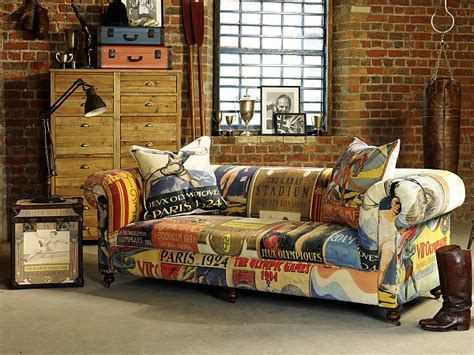 vintage olympic inspired living room furniture from barker