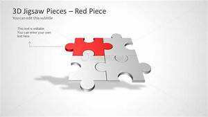 Four Puzzle Piece Template For Powerpoint