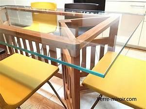 Verre Sur Mesure Pour Table : table en verre tremp sur mesure ~ Dailycaller-alerts.com Idées de Décoration