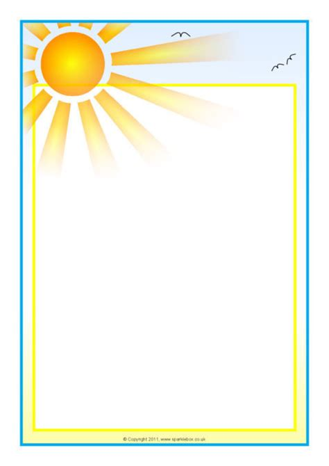 weather themed  page borders portrait sb