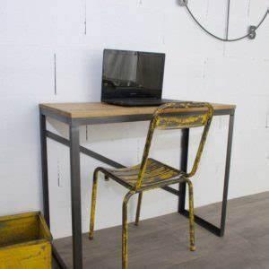 Bureau Style Industriel : table basse industrielle table de repas acier bois sur mesure ~ Teatrodelosmanantiales.com Idées de Décoration