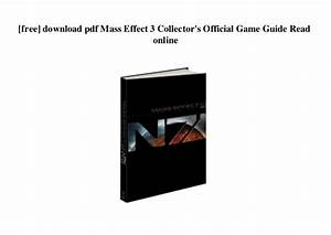 Mass Effect 3 Game Guide Pdf Download