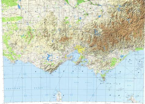 topographic map melbourne topographic map  melbourne