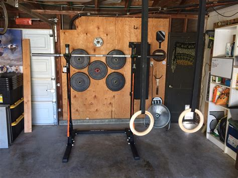 home gym  diy wall weight rack homegym