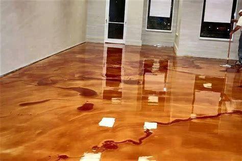 diy metallic epoxy floor