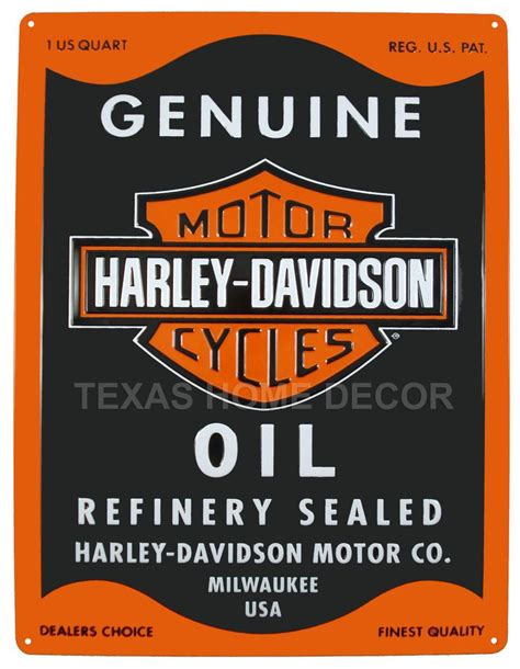 Harley Davidson Signs Decor by Harley Davidson Embossed Tin Metal Sign Can Shield