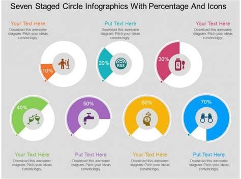 ms  staged circle infographics  percentage