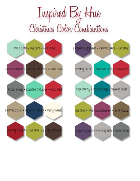 christmas color schemes christmas color combinations holiday cards pinterest