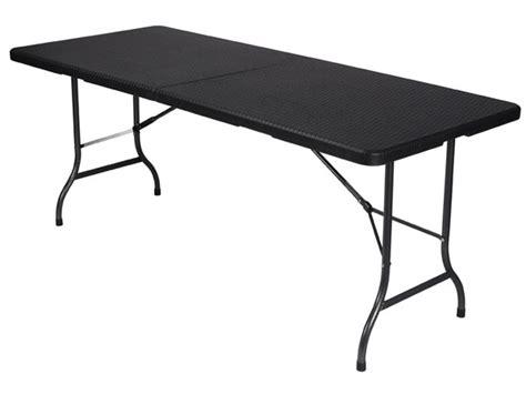 Table Pliante D Appoint Table Pliante D Appoint 180x75 Cm Imitation Rsine Tresse Velleman