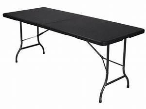 Table Pliante D Appoint : table pliante d 39 appoint 180x75 cm imitation rsine tresse ~ Melissatoandfro.com Idées de Décoration