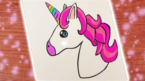 diy kawaii emoji unicorn zeichnen suesses einhorn