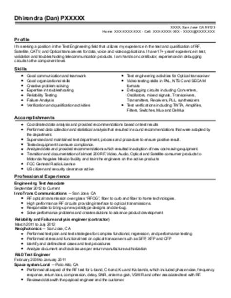 resume for associate system engineer associate senior radio systems engineer resume exle vodafone greece south region