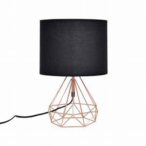 Lampe A Poser : lampe poser g om trique cuivre les douces nuits de ma ~ Nature-et-papiers.com Idées de Décoration