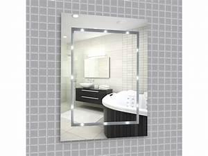 Miroir Étagère Salle De Bain : miroir led illumin pour la salle de bain aliment par piles designer miroir vente de ~ Melissatoandfro.com Idées de Décoration