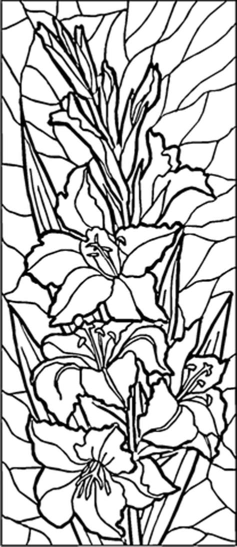 stained glass lilies coloring page supercoloringcom