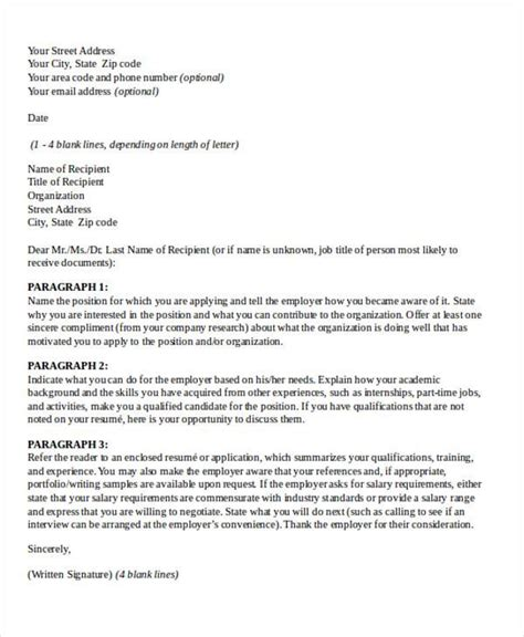 sle business letter personal business cover letter format sle format of 46257