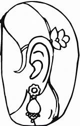 Coloring Pages Jewelry Earrings Popular Templates Sweet Template Coloringhome sketch template