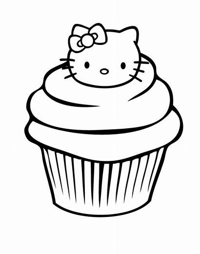 Cupcake Coloring Pages Birthday