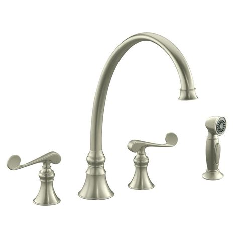 brushed bronze kitchen faucet kohler revival 2 handle standard kitchen faucet in vibrant