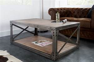 Table Basse Bois Metal Industriel : table basse bois et metal pas cher table basse et pliante ~ Teatrodelosmanantiales.com Idées de Décoration