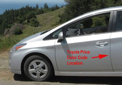 paint code for toyota prius