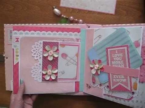 8x8 photo book baby girl pink 8x8 scrapbook mini album