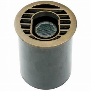Hinkley lighting low voltage watt matte bronze hardy island in ground outdoor well light