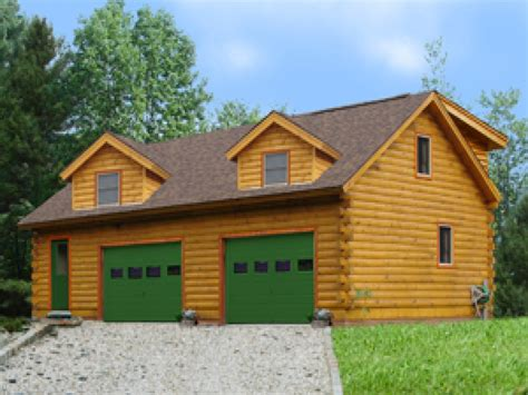Log Home Plans With Garages Log Cabin Garage With