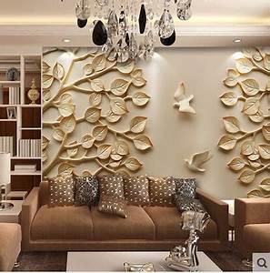 3d Wall Art : european wallpaper mural large 3d wall paper leaves for tv living room bedroom wall art ~ Sanjose-hotels-ca.com Haus und Dekorationen