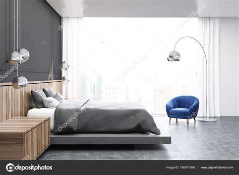 Schlafzimmer In Grau by Grau Und Holz Schlafzimmer Graue Bett Seite Stockfoto