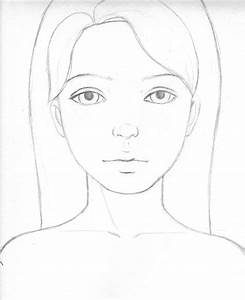 Simple Drawing Of A Girl Easy - Drawing Of Sketch