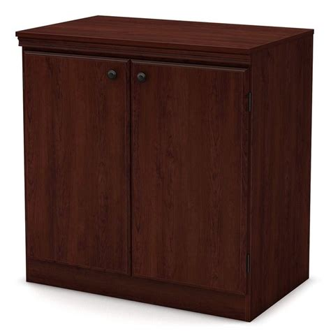 morgan transitional style storage cabinet in royal cherry