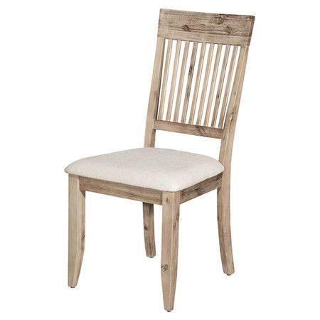 aspen acacia side chair home kitchen