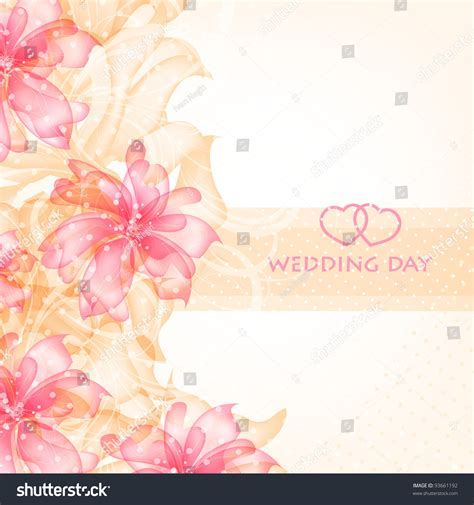 wedding card invitation abstract floral background stock