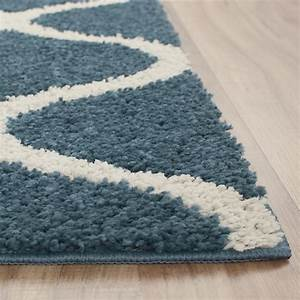 Ogee 2-Color Shag Overcast Blue Area Rug Maples Rugs