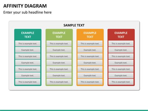 affinity diagram powerpoint template sketchbubble