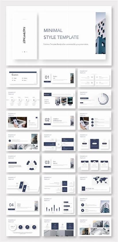 Template Presentation Business Magazine Clean Templates Powerpoint