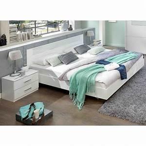 Lit Pas Cher 180x200 : lit adulte design blanc 180x200 cm cbc meubles ~ Teatrodelosmanantiales.com Idées de Décoration