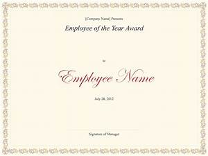 employee of the year certificate certificate templates With employee of the year certificate template free