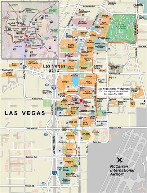 large strip map  las vegas city las vegas large strip