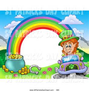 Rainbow with Pot of Gold Clip Art