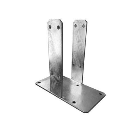 support 224 sceller 224 sceller poteau acier en acier galvanis 233 leroy merlin