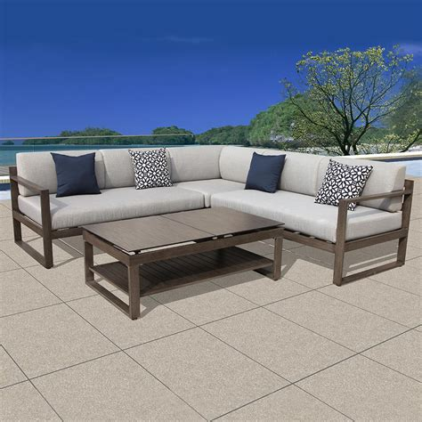 sectional patio furniture outdoor patio sectional furniture sets peenmedia