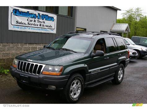 jeep cherokee green 2000 2000 shale green metallic jeep grand cherokee laredo 4x4