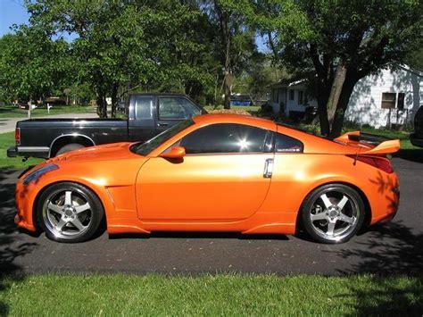 nissan 370z custom paint jobs done arancio atlas lambo orange paint job on z my350z