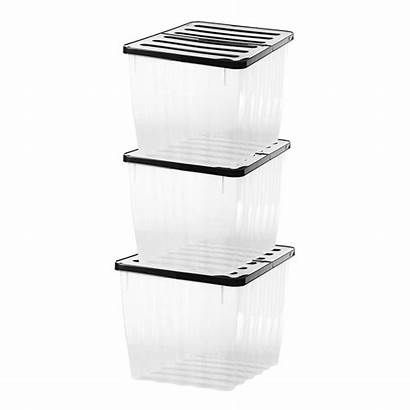 Plastic Storage Clear Box 110l Container Lid