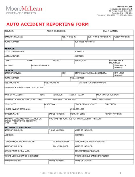 You can cancel your auto insurance by simply calling the american hallmark phone number and telling an auto insurance agent that you want to cancel. Auto Accident Reporting Form - Mclean Hallmark Insurance Group Ltd. Download Fillable PDF ...
